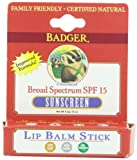 Unscented SPF15 Sunscreen Natural Lip Balm Blocks UVA & UVB Rays 4.2g
