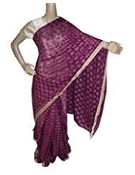 Beautiful RUDA Designer Phulkari Embroidered Saree-JS1121