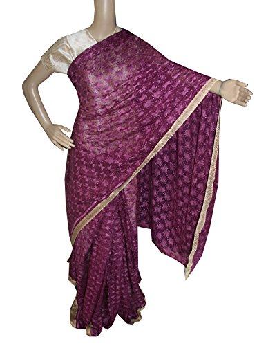 Beautiful RUDA Designer Phulkari Embroidered Saree-JS1121