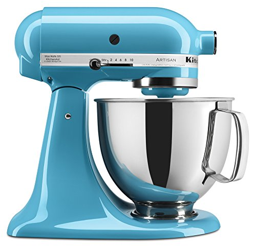 kitchenaid ksm150pscl artisan series 5 qt stand mixer with pouring