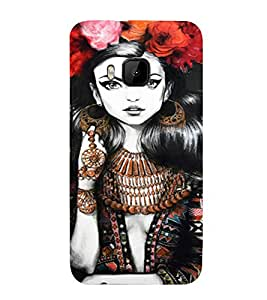 PrintVisa Beautiful Girl Art 3D Hard Polycarbonate Designer Back Case Cover for HTC One M9