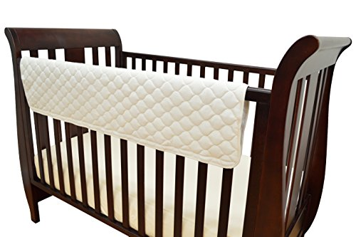 TL Care Organic Cotton Front Crib Rail Cover - 1