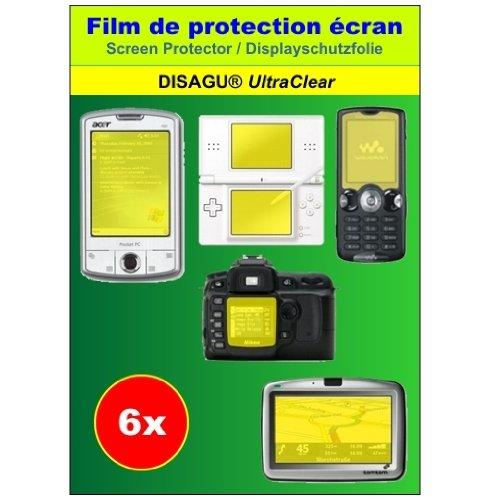 Film de protection d'écran Ultra Clear Pack de 6 pour Amplicom PowerTel M5000