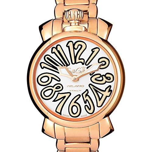 (ガガミラノ)GAGA MILANO 腕時計 マヌアーレ 35MM 6021.1 18K PGコーティング ブレスレット ホワイトダイアル レディースサイズ [並行輸入品]