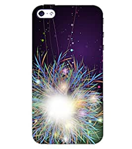 PrintDhaba SPARKLING LIGHTS D-6944 Back Case Cover for APPLE IPHONE 4 (Multi-Coloured)