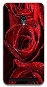 The Racoon Lean red rose hard plastic printed back case / cover for Asus Zenfone 4 A450CG