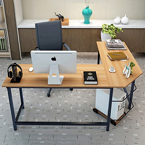 tribesigns modern l shaped desk corner computer desk pc