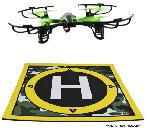 Heliport-Ops-Landing-Pad-and-Launch-Pad-for-Remote-Control-Helicopters-Quadcopters-Mini-Micro-Nano-Racing-Drones-RC-Aircraft-with-Camera-Helipad-Aircraft-Not-included
