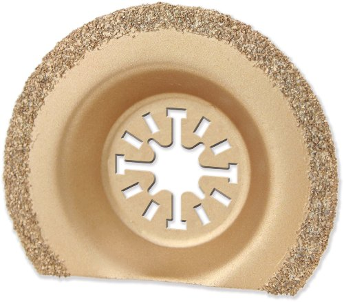 Oshlun MMA-6001 2-1/2-Inch Carbide Recessed Segment Grout Blade with Uni-Fit Arbor for Fein Multimaster, Dremel, and Bosch