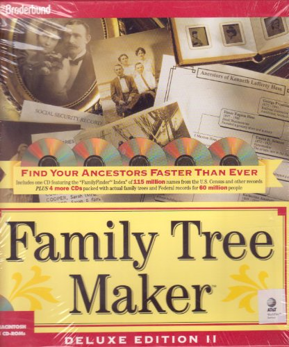 Family Tree Maker Deluxe Edition Ii For Mcintosh/5 Cd-Roms front-881053