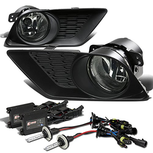Dodge Charger Bumper Fog Light+Switch+10,000K HID+Slim Ballast (Smoke Lens) - 7th Generation (2014 Dodge Charger Halo Lights compare prices)
