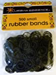 Pack of 500 Small Black Rubber Bands...