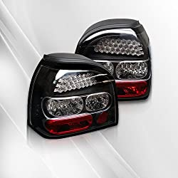 Volkswagen VW Golf 93 94 95 96 97 98 LED Tail Lights ~ pair set (Black)