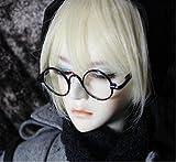 1/3 ドール 用 レトロ 丸 メガネ 選べる カラー (c メタルブラック)