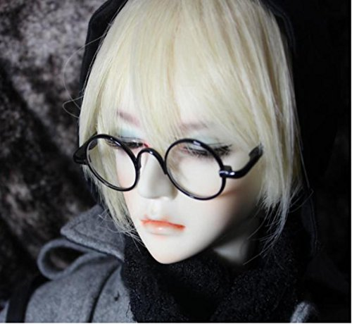 Color 1 / 3 doll glasses retro round choice (a gold)