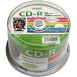 磁気研究所 HI DISK CD-R データ用 700MB 52倍速 ワイドエリアホワイトプリンタブル スピンドルケース 50枚 HDCR80GP50