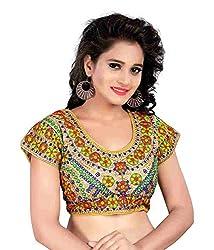 Pushkar Sarees Women's Cotton Blouse (Pushkar Sarees_89_Multi-Coloured_Free Size)