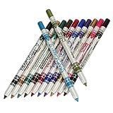 12 Color Glitter Lip Eyebrow Eyeliner Pencil Pen Cosmetic Makeup Besuty Set Kit