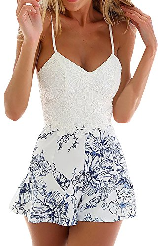 Uncinba Women's Sleeveless Sexy Backless Chiffon Casual Beach Swimsuit Cover Up Dresses
