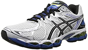 ASICS Men's Gel-Nimbus 16 4E Running Shoe,White/Black/Royal,9.5 4E US