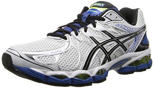 ASICS Men's Gel-Nimbus 16 4E Running Shoe,White/Black/Royal,12.5 4E US