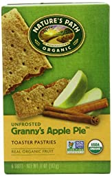 Nature\'s Path Unfrosted Granny\'s Apple Pie Toaster Patries, 6-Count Boxes (Pack of 12)