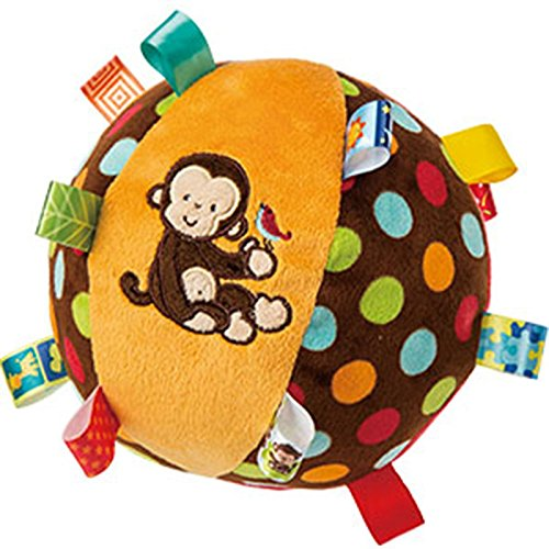 Mary Meyer Taggies Dazzle Dots Monkey Toy, Chime Ball