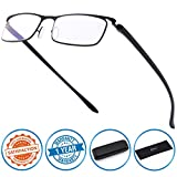 CGID Anti-Blue light Reading Glasses , Computer Readers with TR90 Frame for Men and Women,QKX001