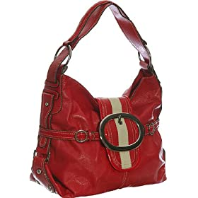 Stripe Belt Hobo - Red or Black