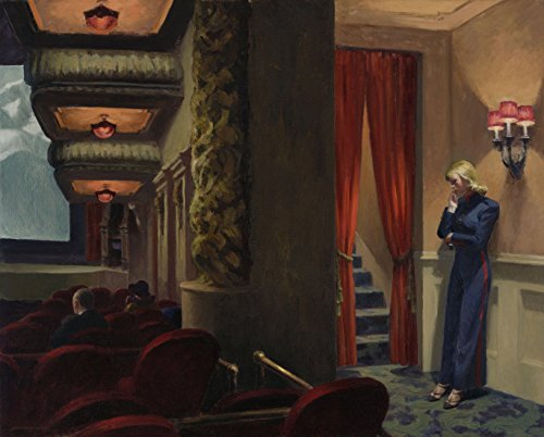 Edward Hopper - New York Movie, Canvas Art Print, Size 24x30, Non-Canvas Poster Print (Edward Hopper New York Movie compare prices)