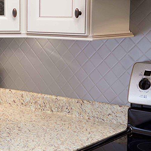 fasade easy installation quilted argent silver backsplash