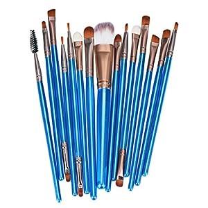 Makeup Brush Set, Doinshop 15pcs Make-up Tools Toiletry Kit Wool Make Up Brush Set (Blue)