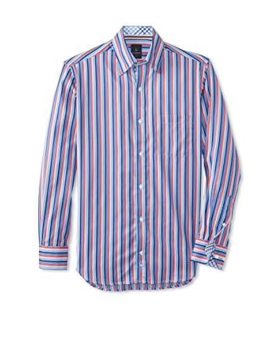TailorByrd Men's Astor Stripe Long Sleeve Shirt