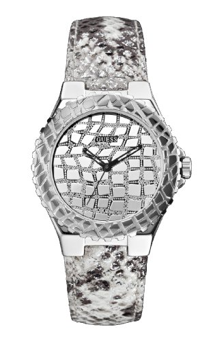 GUESS Untamed Analog Silver Dial Women's Watch - W0227L1 (Guess Analog Silver Dial compare prices)