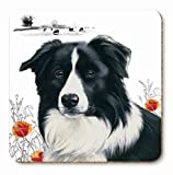 The Good Shepherd Border Collie Set of 6 Coasters