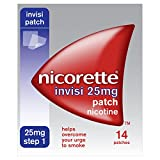 6 x Nicorette Step 1 Invisi 25mg Patch Nicotine 14 Patches