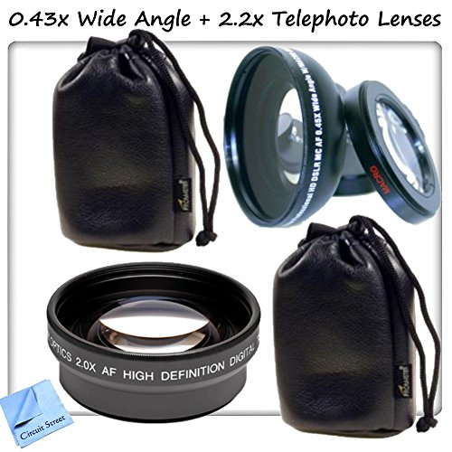 52Mm High Definition 0.43X Wide Angle Lens W/ Macro Attachment + 2.2X Telephoto Hd Lens, Compatible With All 52Mm Threaded Lenses