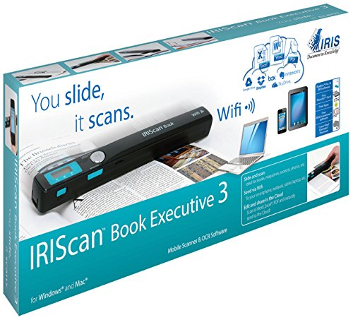 IRIScan Book 3 Executive Wireless Portable 900 dpi Color Scanner with WiFi