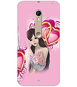 Printdhaba Love Girl D-4131 Back Case Cover For Motorola Moto X Pure Edition