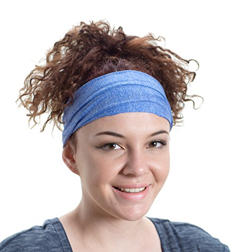 Lightweight Sports Headband - Red Dust Active - Non Slip Moisture Wicking Royal Sweatband - Ideal for Running, Cycling, Hot Yoga and Athletic workouts - Designed for Women Borrowed by Men