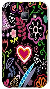 Timpax Protective Hard Back Case Cover With access to all controls and ports Printed Design : Purple heart .Exactly Design For : Samsung Galaxy J1