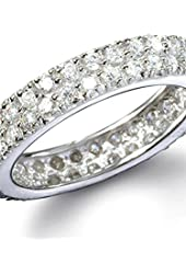 Karina's Fine Double Row CZ Eternity Ring