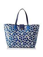 LIUJO Bolso shopping (Blanco / Azul)