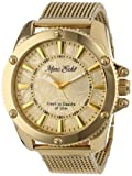 Picture Of Marc Ecko Men's E18597G1 The Flash Gold Mesh Gold Dial Watch
