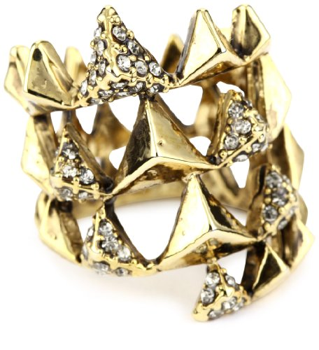 House of Harlow 1960 Gold-Plated Pyramid Wrap Ring, Size 7