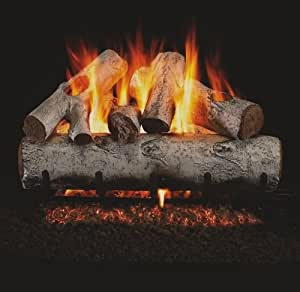 Peterson Real Fyre White Birch Vented Gas Log Sets With Burner Propane 24 Millivolt