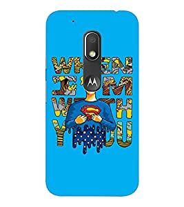 EPICCASE Superheros love Mobile Back Case Cover For Moto Play (Designer Case)