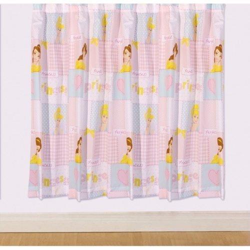 t rvorhang kinder m dchen disney prinzessin designetes gardinen set 168cm x 137cm pink. Black Bedroom Furniture Sets. Home Design Ideas