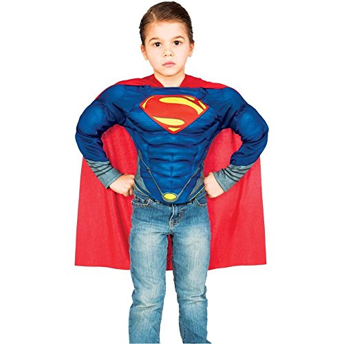 Superman: Man of Steel Muscle Shirt Kids Costume Kit - Small