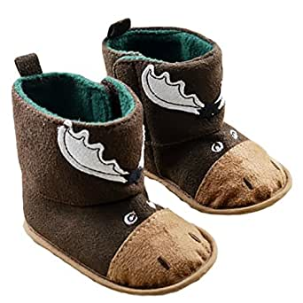Baby Boy Girl Christmas Crib Shoes Newborn Warm Socks Snow Boots Slipper
